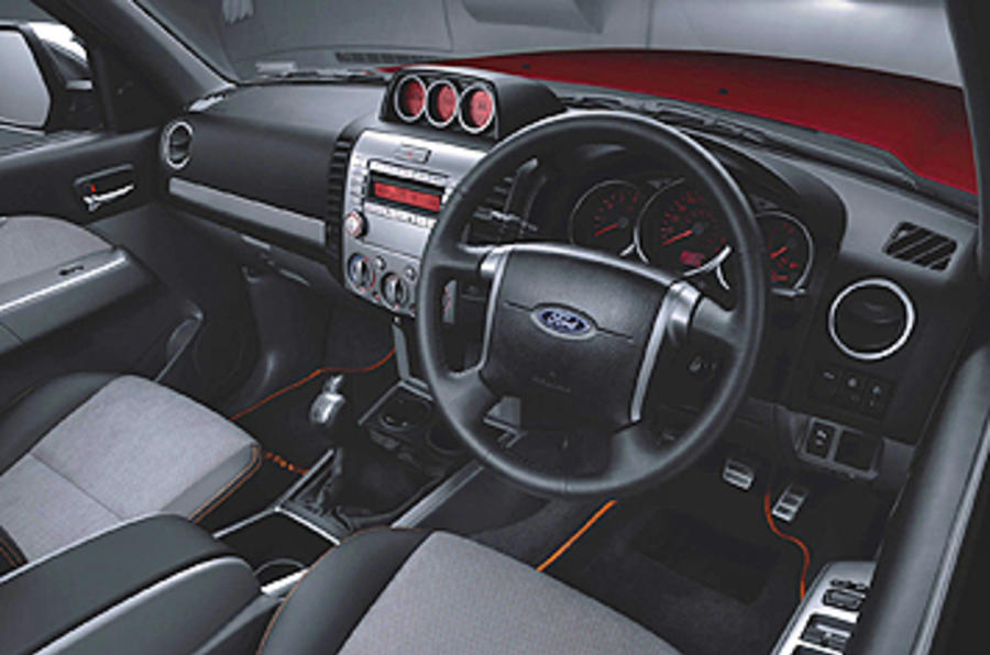 Ford Ranger Wildtrak dashboard