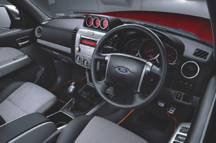 Ford Ranger Wildtrak dashboard