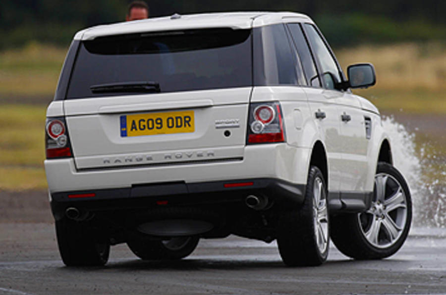 Range Rover Sport rear cornering