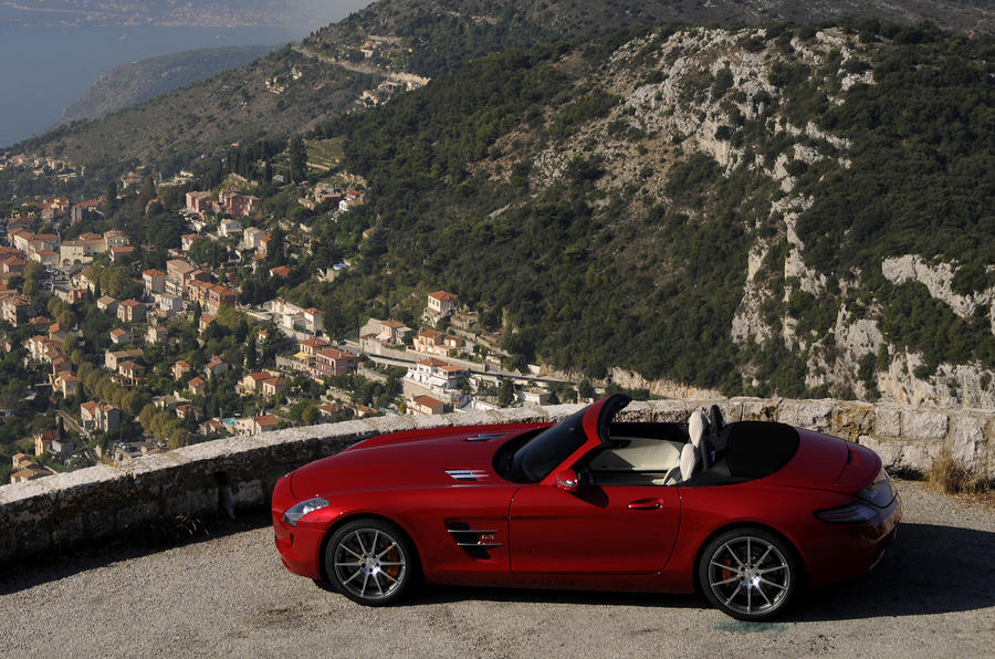 Mercedes-Benz SLS AMG Roadster roof down