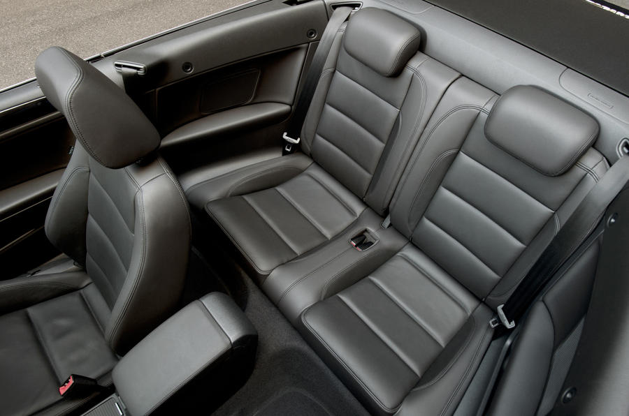 Volkswagen Golf Cabriolet rear seats