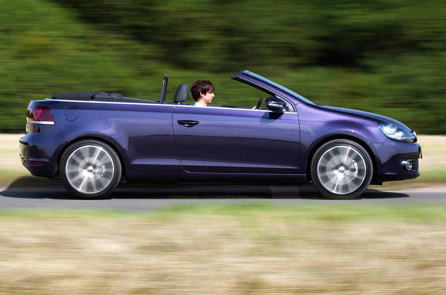 Volkswagen Golf Cabriolet roof down