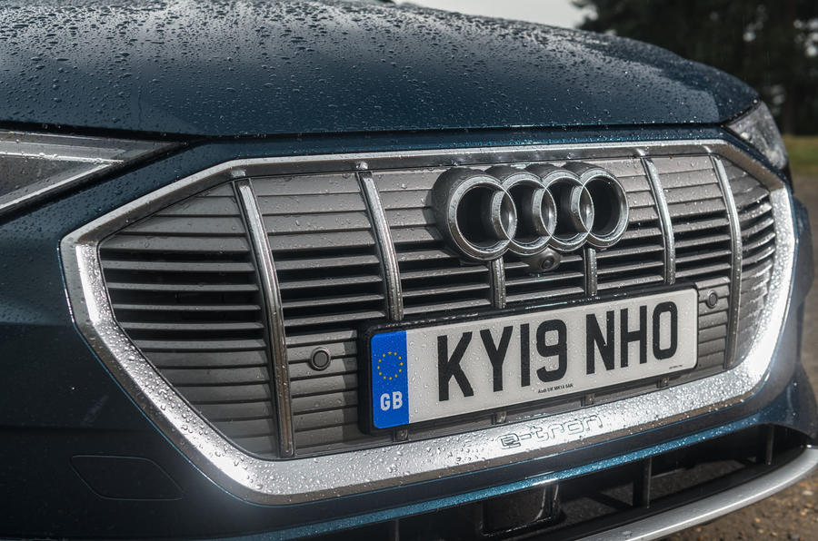 Audi E-tron 55 Quattro 2019 road test review - front bumper