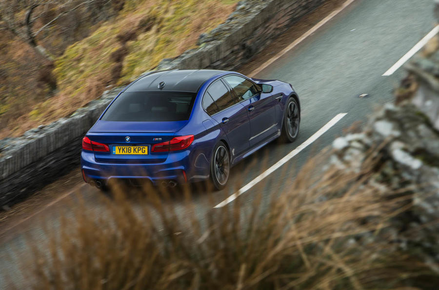 BMW M5 2018 review hero rear