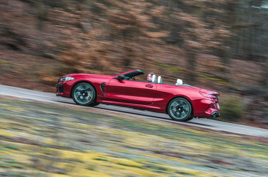 BMW M8 Competition convertible 2020 road test review - hero side
