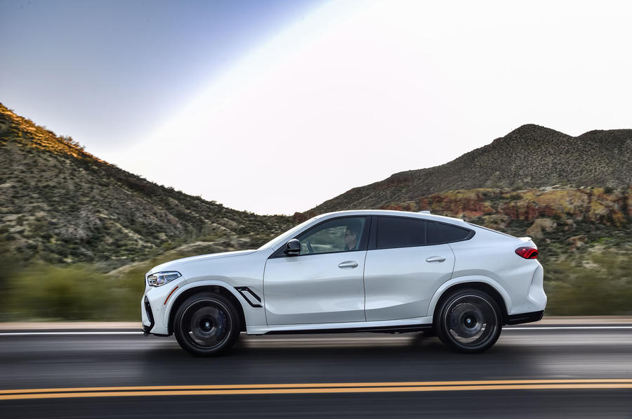 BMW X6 M Competition 2020 road test review - hero side