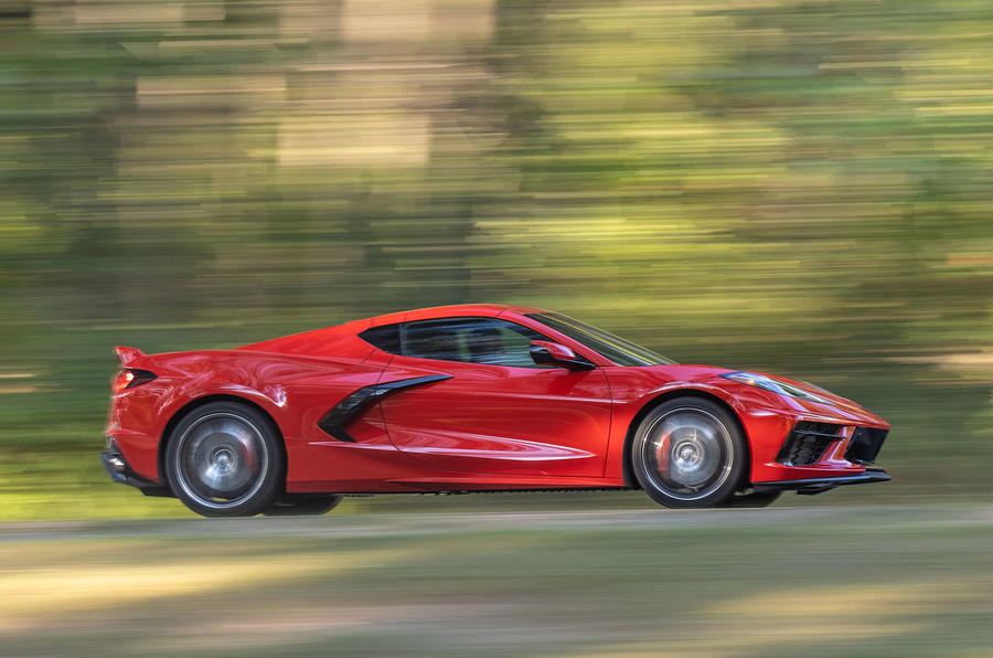 Corvette Stingray C8 2019 road test review - hero side