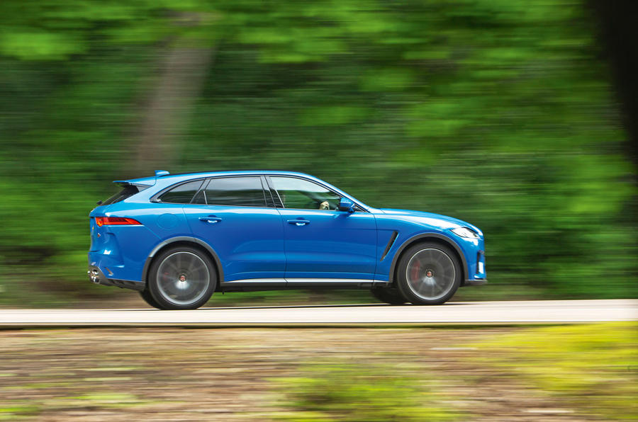 Jaguar F-Pace SVR 2019 road test review - hero side