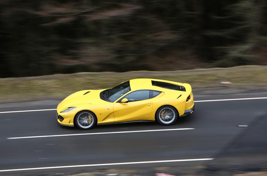 Ferrari 812 Superfast 2018 road test review hero side