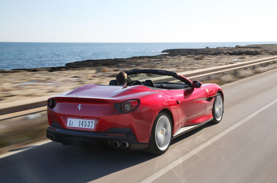 Ferrari Portofino review rear hero