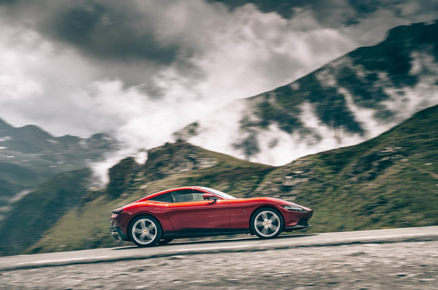 Ferrari Roma 2020 road test review - hero side