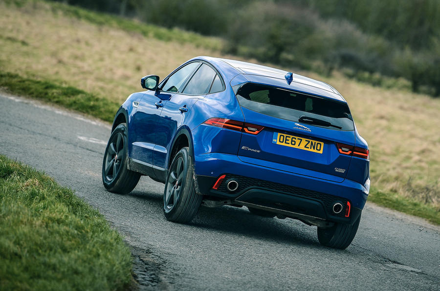 Jaguar E-Pace review hero rear
