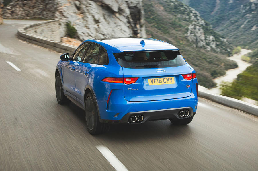 Jaguar F-Pace SVR 2019 first drive review - hero rear