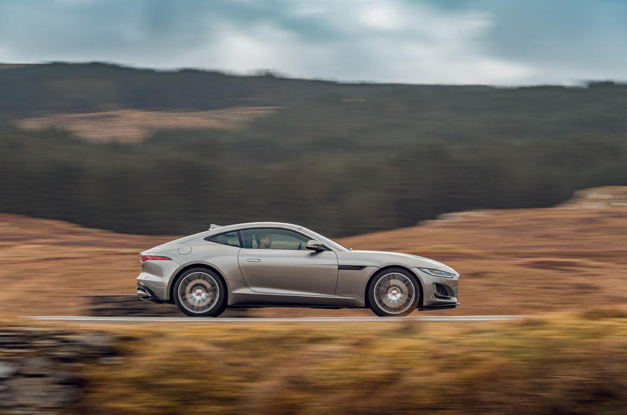 Jaguar F-Type 2020 road test review - hero side