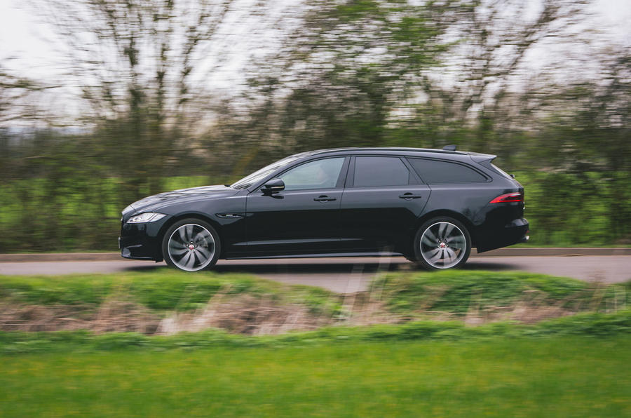 Jaguar XF Sportbrake 2019 road test review - hero side