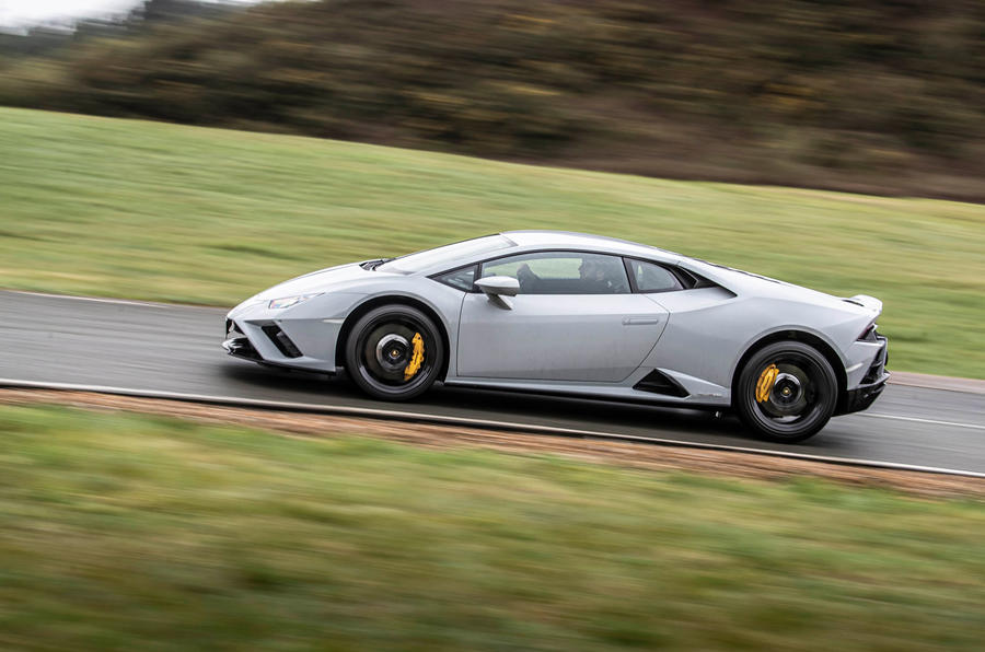 Lamborghini Huracan EVO RWD 2020 road test review - hero side