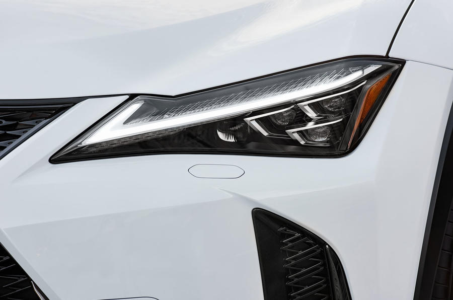 Lexus UX 2019 road test review - headlights
