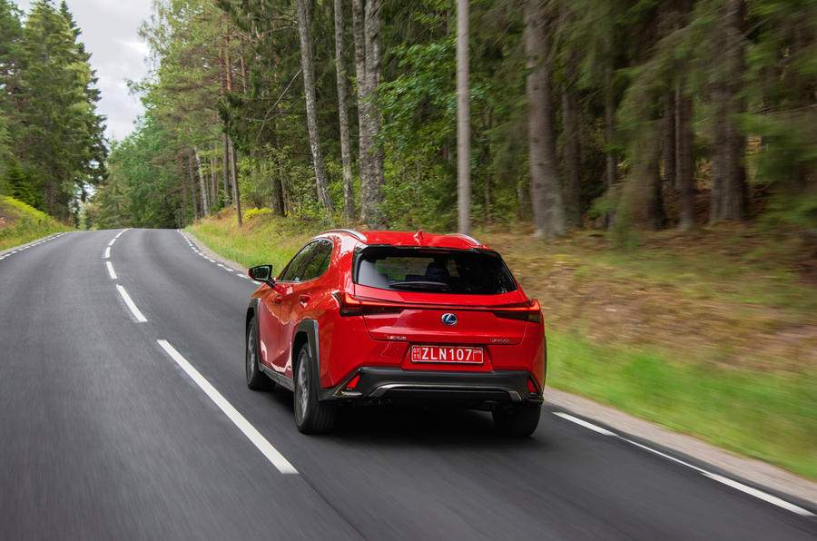 Lexus UX 2018 road test review - hero rear