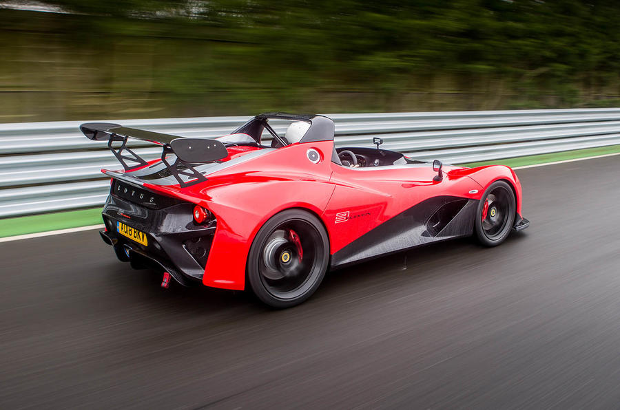 Lotus 3-Eleven 430 review on track rear