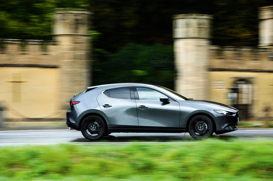 Mazda 3 Skyactiv-X 2019 road test review - hero side
