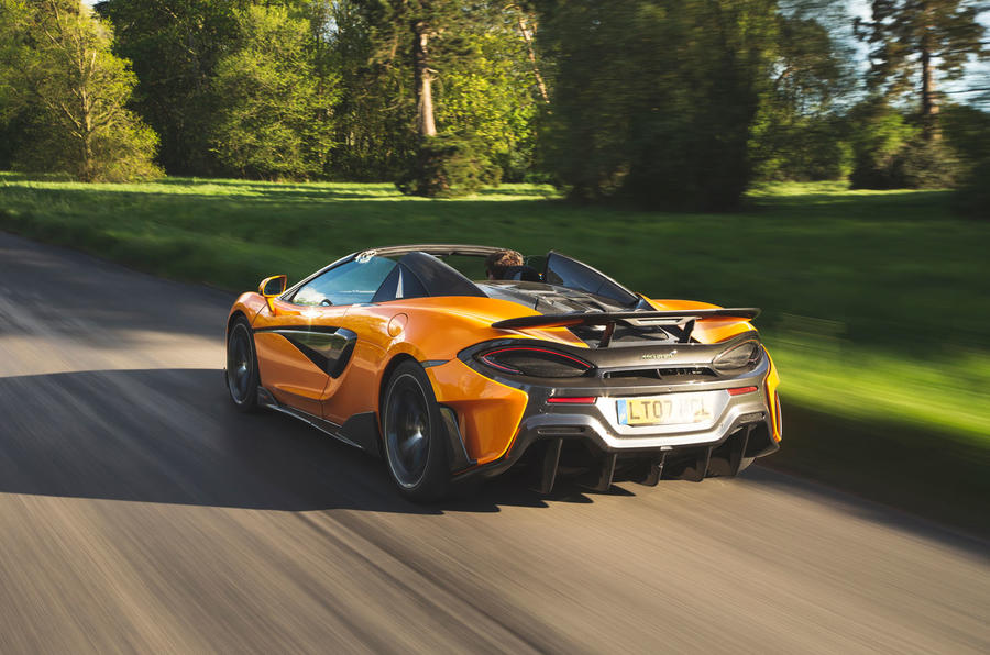 McLaren 600LT Spider 2019 road test review - hero rear