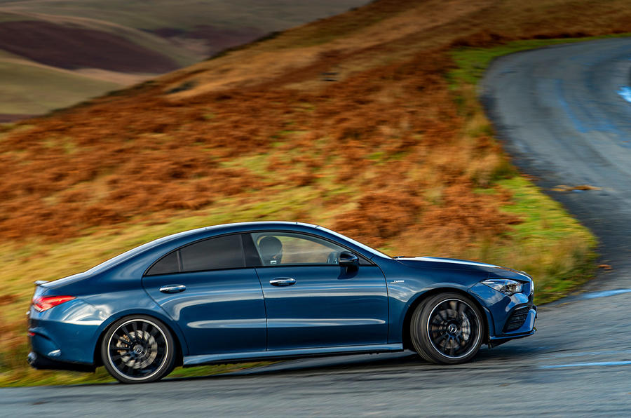 Mercedes-AMG CLA35 2020 road test review - hero side