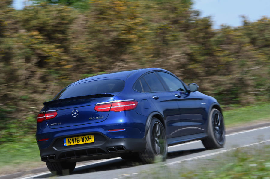 Mercedes-AMG GLC 63 S road test review hero rear