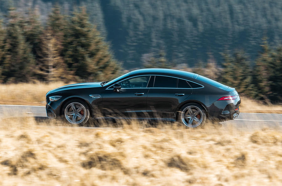 Mercedes-AMG GT four-door Coupé 2019 road test review - hero side