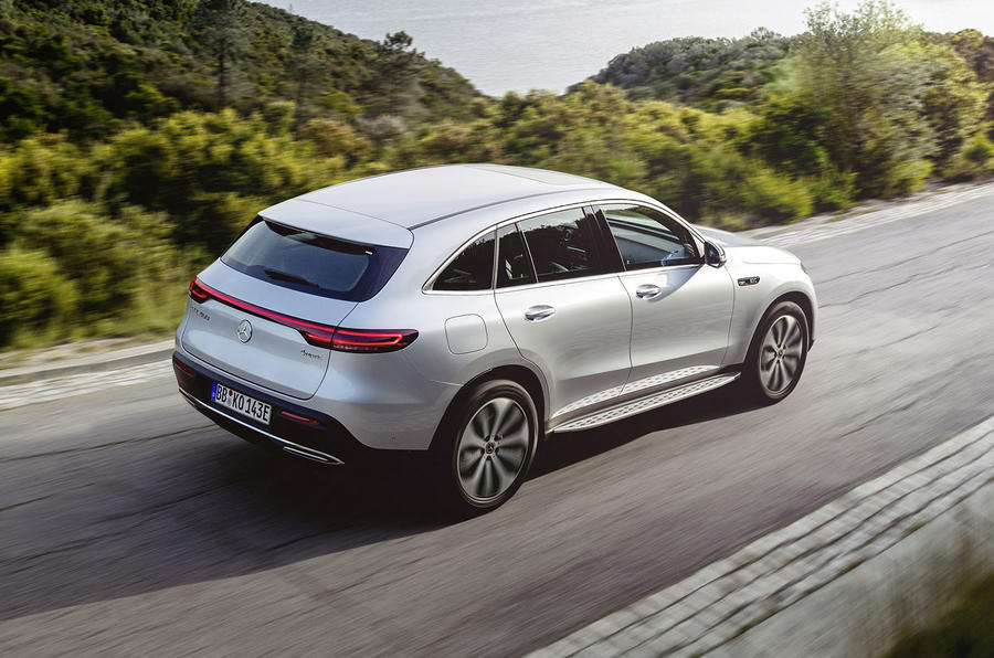 Mercedes-Benz ECQ 2019 review - hero rear