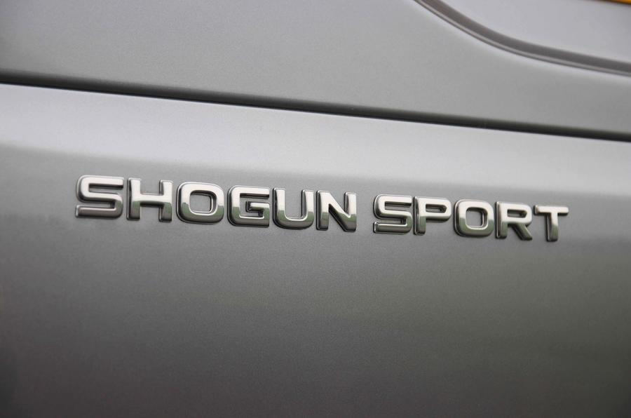 Mitsubishi Shogun Sport 2018 road test review rear badge