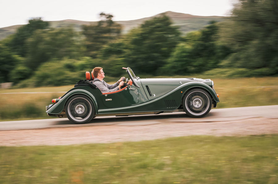 Morgan Plus Six 2019 road test review - hero side