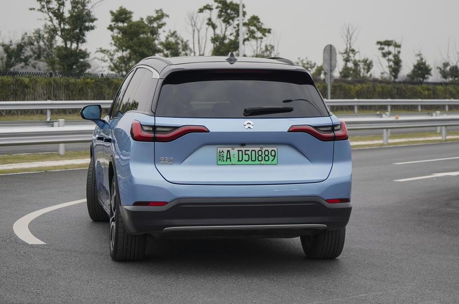 Nio ES8 road test review - hero rear