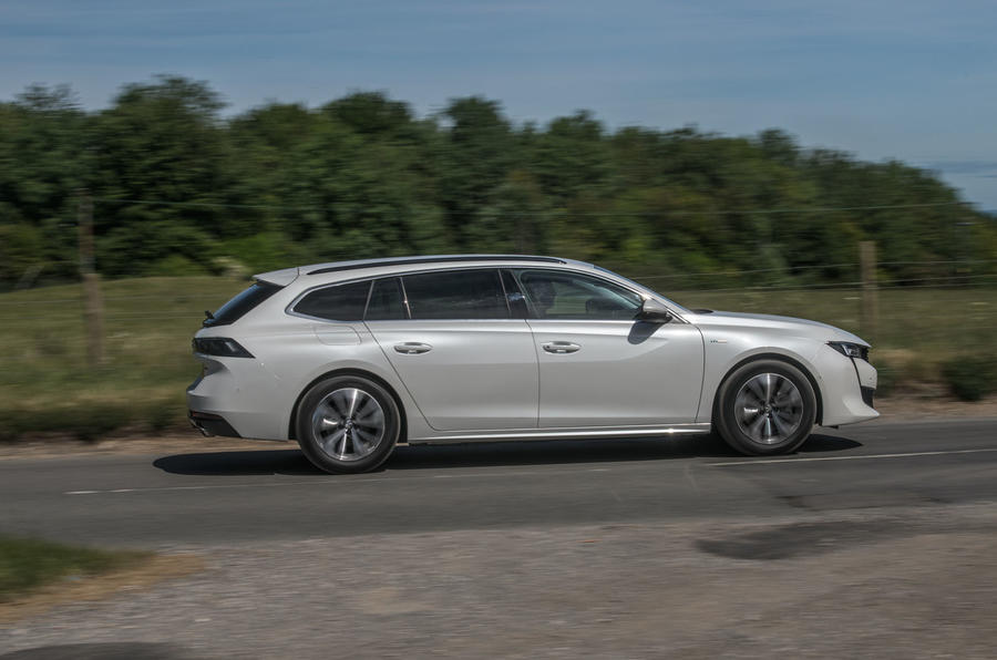 Peugeot 508 SW Hybrid 2020 road test review - hero side