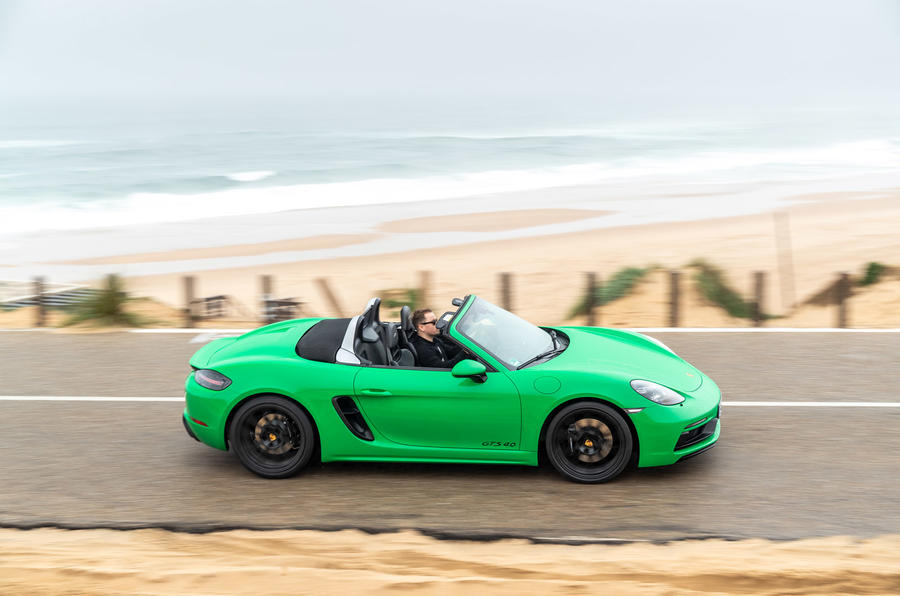 Porsche 718 Boxster GTS 4.0 2020 road test review - hero side