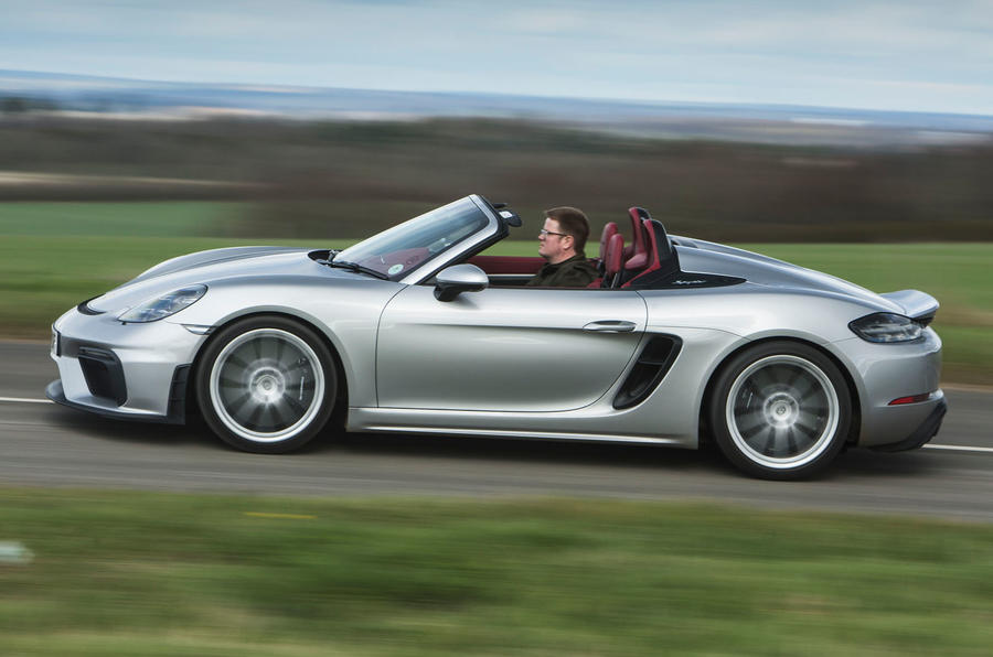 Porsche 718 Spyder 2020 road test review - hero side