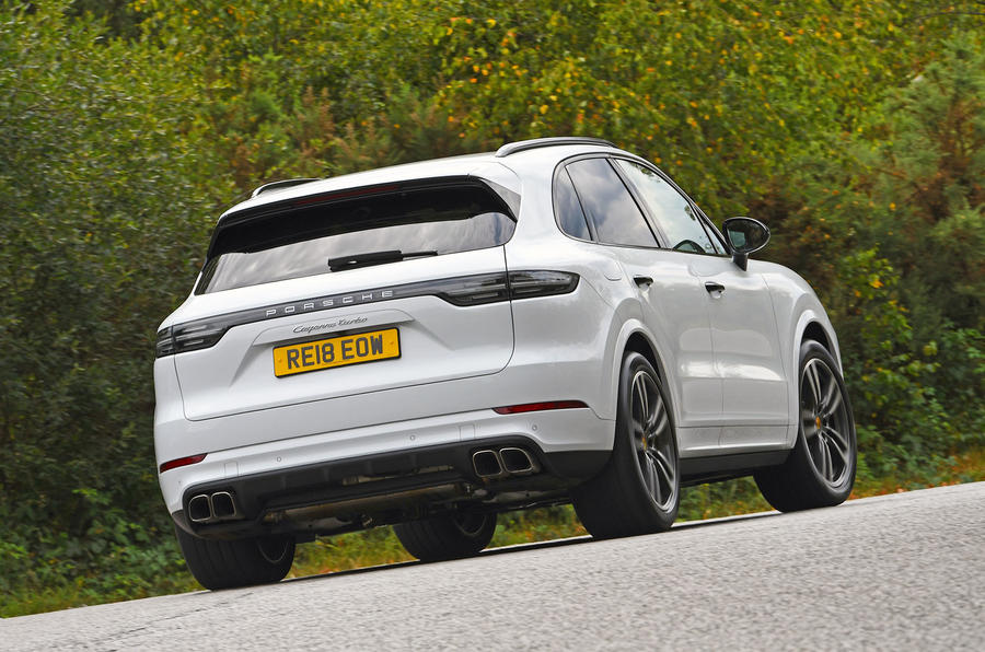 Porsche Cayenne Turbo 2018 road test review hero rear