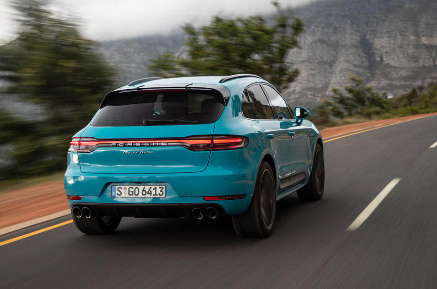 Porsche Macan Turbo 2019 road test review - hero rear