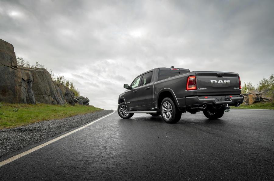 RAM 1500 Laramie 5.8 V8 2018 review - hero rear