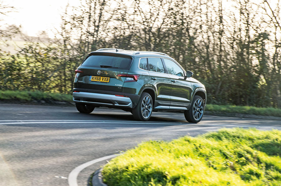 Skoda Karoq Scout 2019 road test review - hero rear