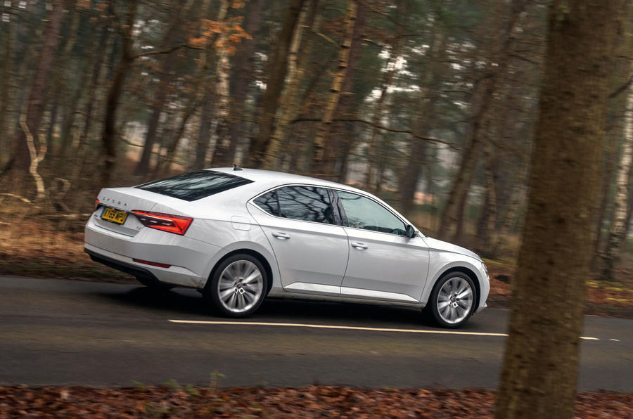 Skoda Superb iV 2020 road test review - hero side