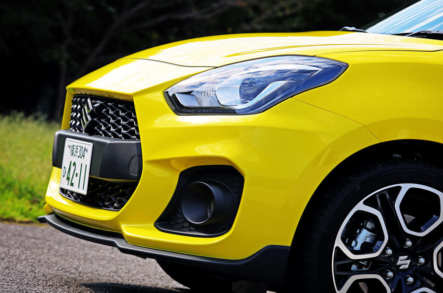 Suzuji Swift Sport Japan-spec review front end