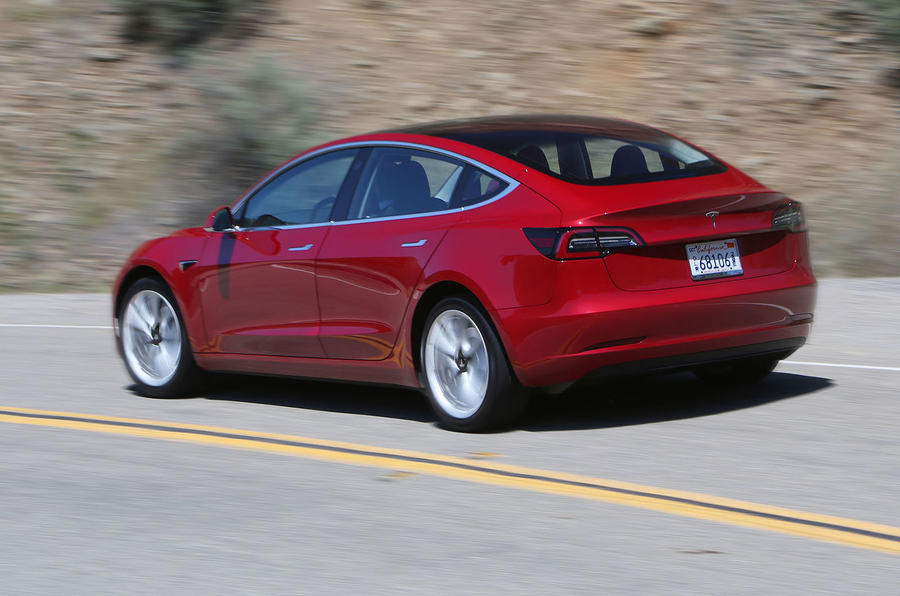 Tesla Model 3 2018 road test review hero rear