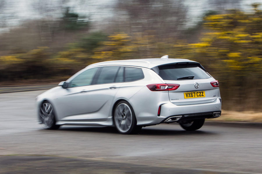 Vauxhall Insignia Sports Tourer GSI review hero rear