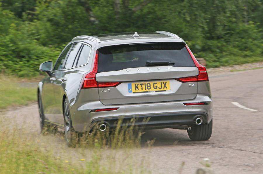 Volvo V60 2018 road test review hero rear