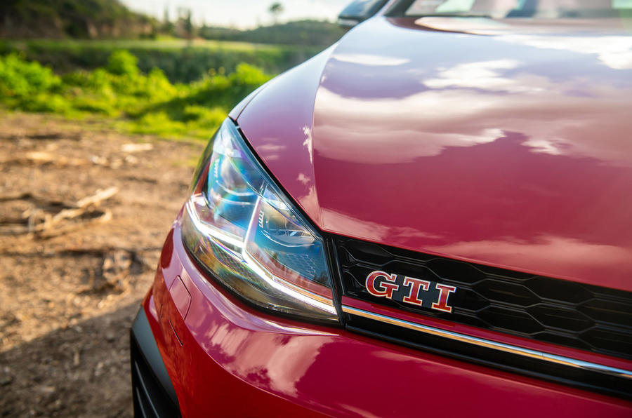 Volkswagen Golf GTI TCR 2019 road test review - front badge