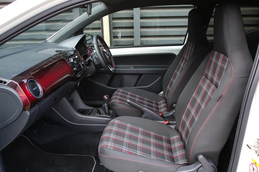 Volkswagen Up GTI 2018 review front seats