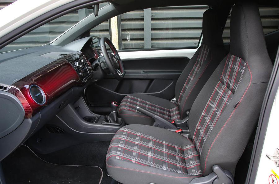 Volkswagen Up GTI 2018 review front seats