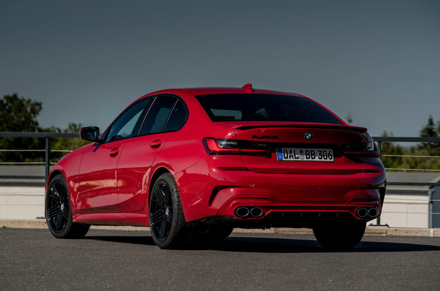 Alpina B3 2020 road test review - static rear