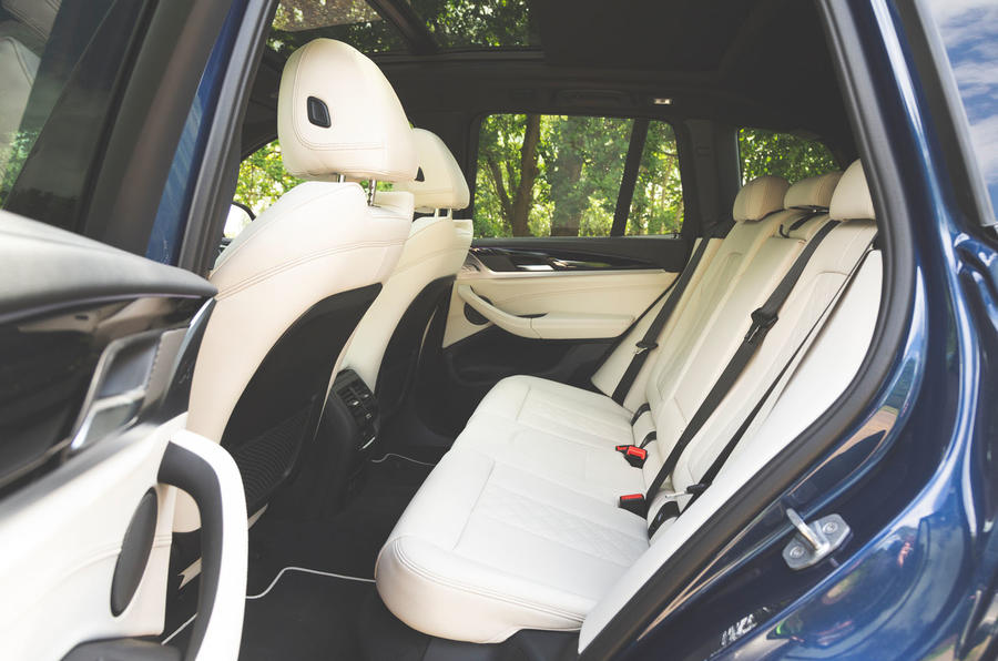 Alpina XD3 2019 UK road test review - rear seats