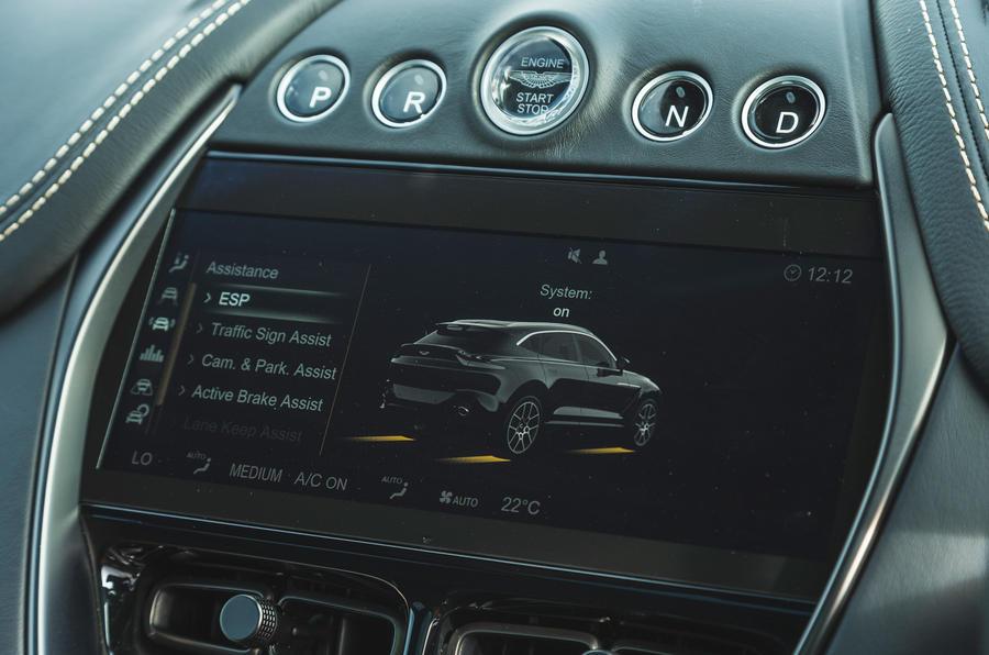Examen de l'essai routier de l'Aston Martin DBX 2020 - modes de conduite